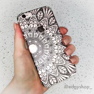 Henna Flower Hard iPhone Case